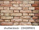 old brick wall texture grunge... | Shutterstock . vector #234289831