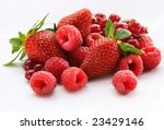 Assorted Berries Isolated On...