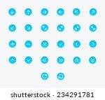 arrows icon set   vector | Shutterstock .eps vector #234291781