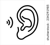 ear icon | Shutterstock .eps vector #234291985