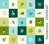flat design nature icons for... | Shutterstock .eps vector #234296167