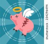 piggy bank is broken. vector... | Shutterstock .eps vector #234296494