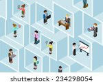 flat 3d isometric business... | Shutterstock .eps vector #234298054