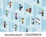 flat 3d isometric business... | Shutterstock .eps vector #234298054