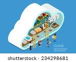modern 3d flat design isometric ... | Shutterstock .eps vector #234298681