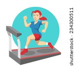 vector fitness flat illustration   Shutterstock .eps vector #234300511