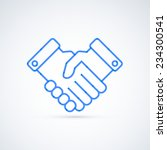 blue icon handshake. business... | Shutterstock .eps vector #234300541