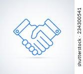 blue icon handshake. business... | Shutterstock .eps vector #234300541