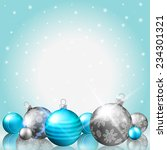 christmas background with shiny ... | Shutterstock .eps vector #234301321
