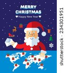 christmas greeting card with... | Shutterstock .eps vector #234301951