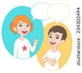 vector illustration. two... | Shutterstock .eps vector #234302494