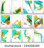 flyer  brochure design template ... | Shutterstock .eps vector #234308185