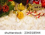 christmas composition and... | Shutterstock . vector #234318544