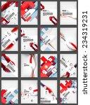 set of flyer templates ... | Shutterstock .eps vector #234319231