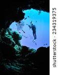 underwater silhouette in banda  ... | Shutterstock . vector #234319375