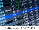 stock market chart stock market ... | Shutterstock . vector #234325051