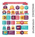 valentines day sale banner flat ... | Shutterstock .eps vector #234325444