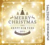 christmas greeting card light... | Shutterstock .eps vector #234327991