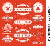 christmas decoration vector... | Shutterstock .eps vector #234328849