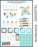 big pack of data visualization... | Shutterstock .eps vector #234329791