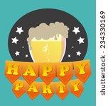 party design over blue... | Shutterstock .eps vector #234330169