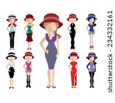 set of people icons in flat... | Shutterstock .eps vector #234332161