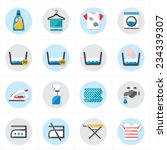 flat icons for laundry and... | Shutterstock .eps vector #234339307