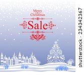 christmas sale label. vector...   Shutterstock .eps vector #234342367