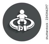 fasten seat belt sign icon....