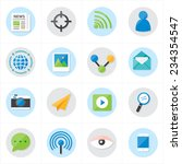 flat icons communication and... | Shutterstock .eps vector #234354547
