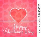 happy valentine's day vector... | Shutterstock .eps vector #234354595