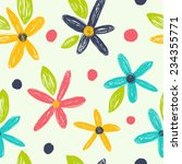 bright floral seamless pattern. ...