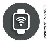 smart watch sign icon. wrist...
