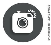 hipster photo camera sign icon. ...