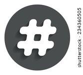 hashtag sign icon. social media ...