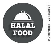 halal food product sign icon....   Shutterstock .eps vector #234360517