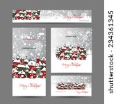 christmas cards with winter... | Shutterstock .eps vector #234361345