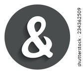 ampersand rounded sign icon....