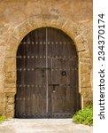 old moroccan door from rabat | Shutterstock . vector #234370174