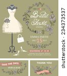 bridal shower invitation set... | Shutterstock .eps vector #234373537