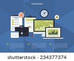 flat design modern vector...   Shutterstock .eps vector #234377374