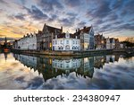 sunset in the historic city of... | Shutterstock . vector #234380947