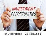 investment opportunities | Shutterstock . vector #234381661