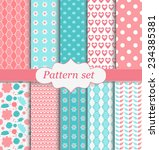cute pattern set | Shutterstock .eps vector #234385381