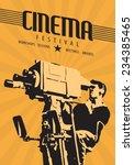 cinema film festival poster... | Shutterstock .eps vector #234385465