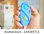 hand holding nurse call button   Shutterstock . vector #234385711