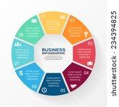 vector circle infographic.... | Shutterstock .eps vector #234394825