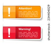 attention and warning labels ...