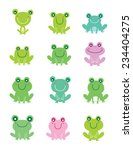cute frog vector | Shutterstock .eps vector #234404275