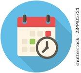 meeting deadlines  modern flat... | Shutterstock .eps vector #234405721